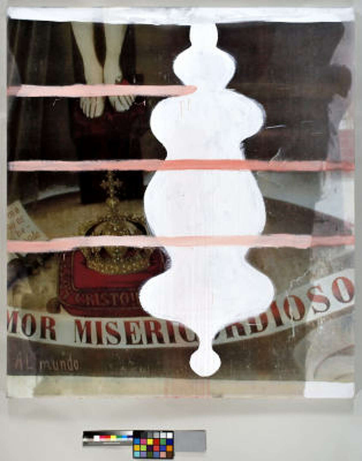 A painting by Schnabel: Untitled (Amor Misericordioso VII), 2005.