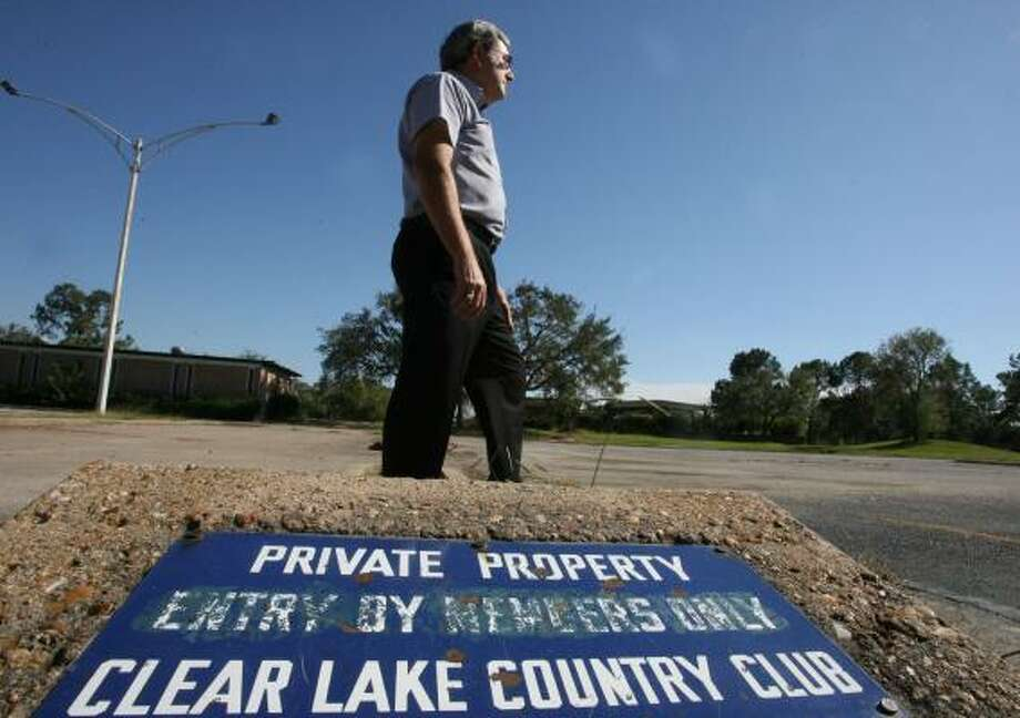 John Branch is a leader of a local green space preservation group and a water authority board member. He's concerned that a developer's plans for the former Clear Lake Golf Club's 178 acres could worsen flooding. Photo: BILLY SMITH II, CHRONICLE