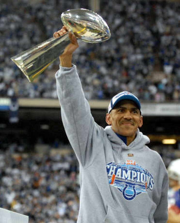 Dungy, who won a Super Bowl with the Colts after the 2006 season, was a model coach for the NFL. Photo: Tom Strickland, AP
