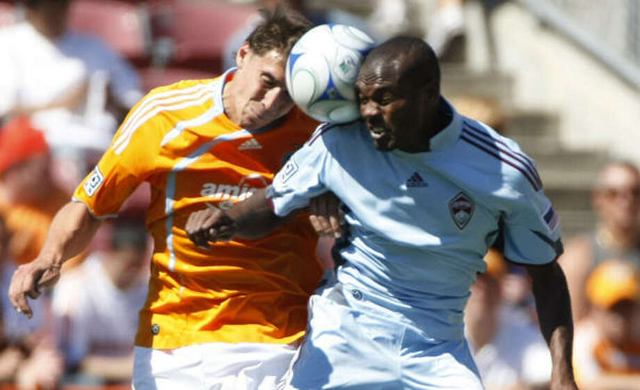 Former Rapids forward Omar Cummings will don Dynamo orange next season. Photo: Julio Cortez, Chronicle