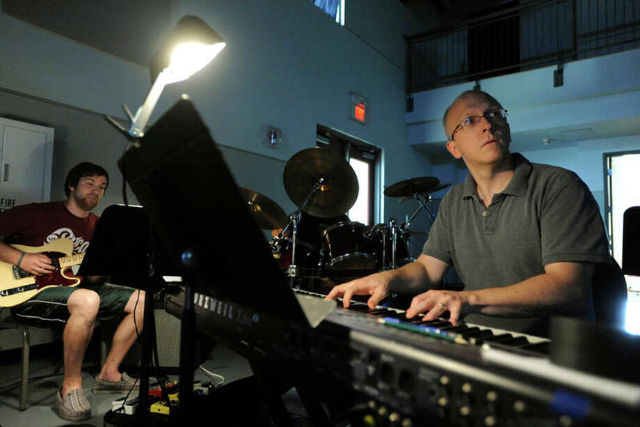 Rob Mikulski plays piano during a rehearsal of 'Joseph and the Amazing Technicolor Dreamcoat at Zion Lutheran Church,' 9944 Leslie Road, on July 21, 2011. Photo: BILLY CALZADA / gcalzada@express-news.net