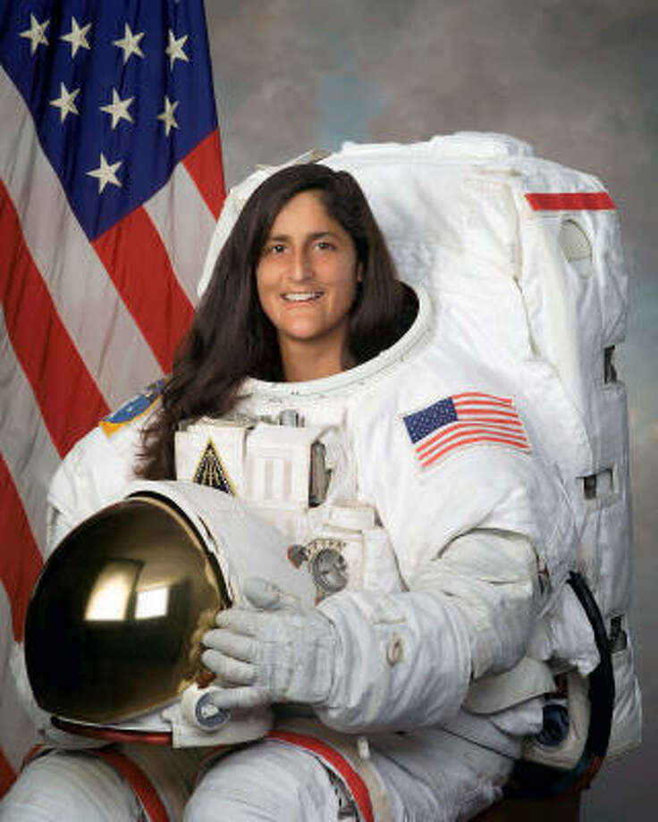 This official undated photo released by NASA shows STS-116 Mission Specialist Sunita Williams. Photo: AP