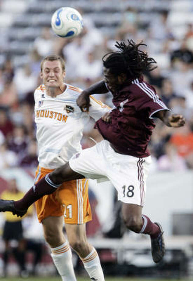 The Colorado Rapids handed the Dynamo their second-straight 1-0 loss Saturday night. Photo: Jack Dempsey, AP