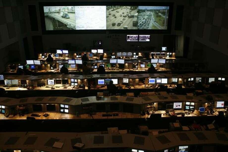 El centro Transtar sirve como cuartel general para las agencias encargadas de hacerse cargo de situaciones de crisis en Houston. Photo: Nathan Lindstrom, Para La Voz