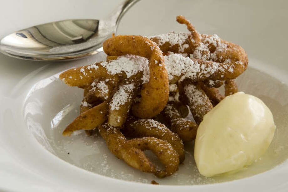 Spam funnel cake with Spam ice cream. Photo: Brett Coomer, Chronicle