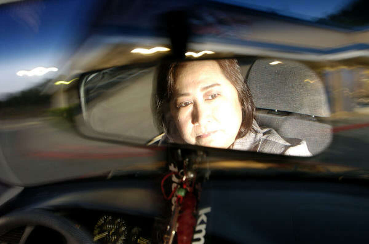 """Emma """"Matty"""" Yturralde drives her 2001 Daewoo Lanos, which she bought with help from Ways to Work, a nonprofit."""