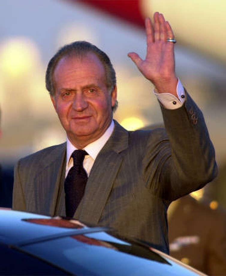 King Juan Carlos is known to enjoy hunting Photo: SUSAN WALSH, AP