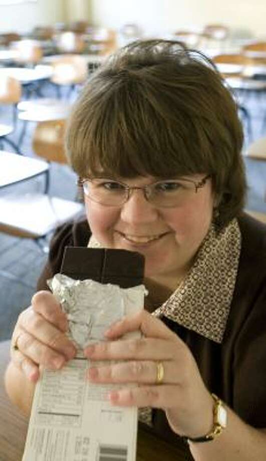 Romi Burks, a biology professor at Southwestern University, believes she has created the first college course that offers an interdisciplinary approach to chocolate. Photo: Ha Lam, For The Chronicle