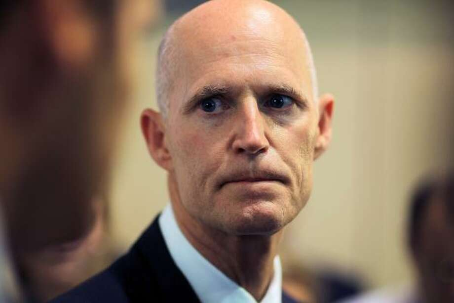 Florida Gov. Rick Scott is sparring with a private citizen who yelled at him in a Gainesville Starbucks. Click to see more weird Florida stories. Photo: Joe Raedle, Getty