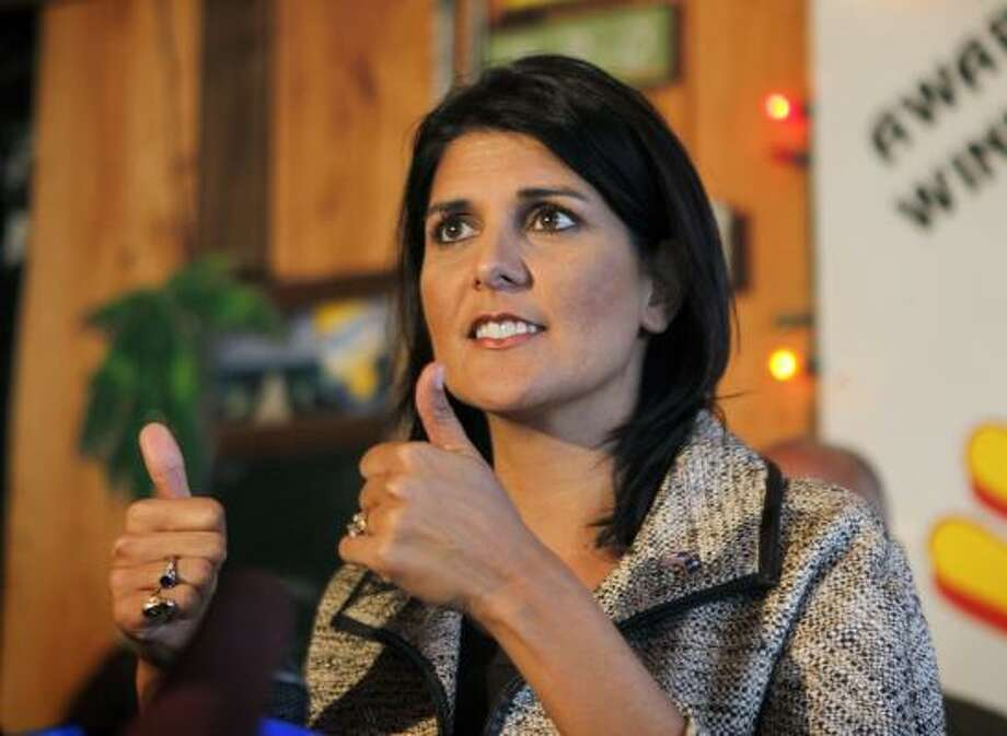 Nikki Haley State: South Carolina RSVP: There in spirit. She will join in declaring Aug. 6 a day of prayer, according to Perry's spokeswoman. Photo: David Goldman, AP