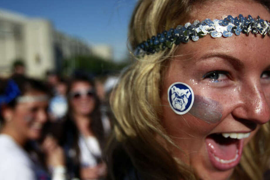 Butler University student Caroline Kirkwood is ready to see her Bulldogs play once again for the national title. Photo: Johnny Hanson, Chronicle