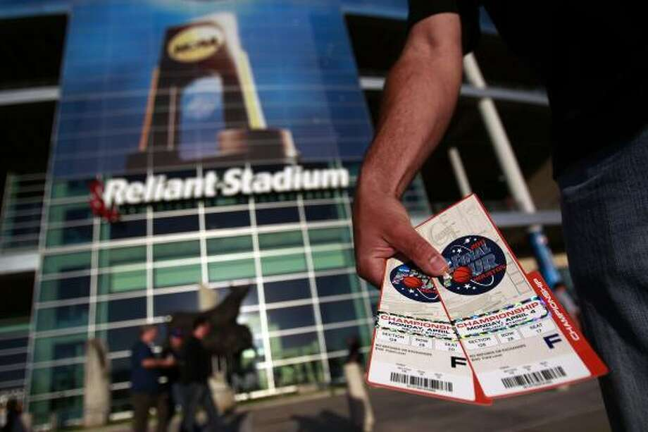 Nick Bregenzer, of Houston, said he paid $400 per ticket to attend the NCAA title game. Photo: Johnny Hanson, Chronicle