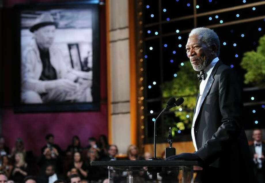 Morgan Freeman speaks onstage at the 39th AFI ceremony where he received the Lifetime Achievement Award. Photo: Frazer Harrison, Getty