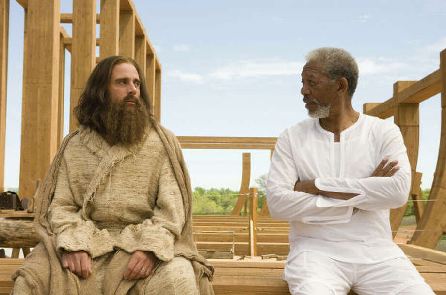 """Evan Almighty"" (2007)Total earnings: $173,418,781Starring: Steve Carell, Morgan Freeman, Lauren GrahamPlot: A new-kid-on-the-block politician inadvertently makes waves with his fellow lawmen after he believes God is telling him to build an ark. Photo: Ralph Nelson, Universal Studios"
