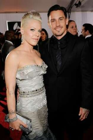 Singer Pink and husband Carey Hart welcomed a little girl named Willow Sage. Photo: Larry Busacca, Getty
