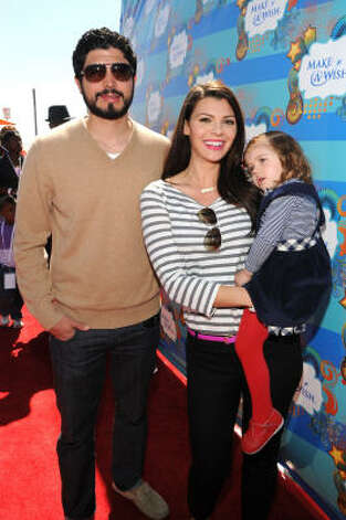 Ali Landry, husband Alejandro Gomez Monteverde and daughter Estela Monteverde are making plans for a new addition to the family. Landry is pregnant again.  Photo: Michael Buckner, Getty Images For Kevin & Steffia