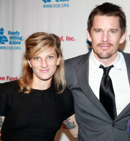 Ethan Hawke and his wife Ryan Shawhughes had a second baby daughter . Hawke also has two children with Uma Thurman. Photo: Astrid Stawiarz, Getty Images