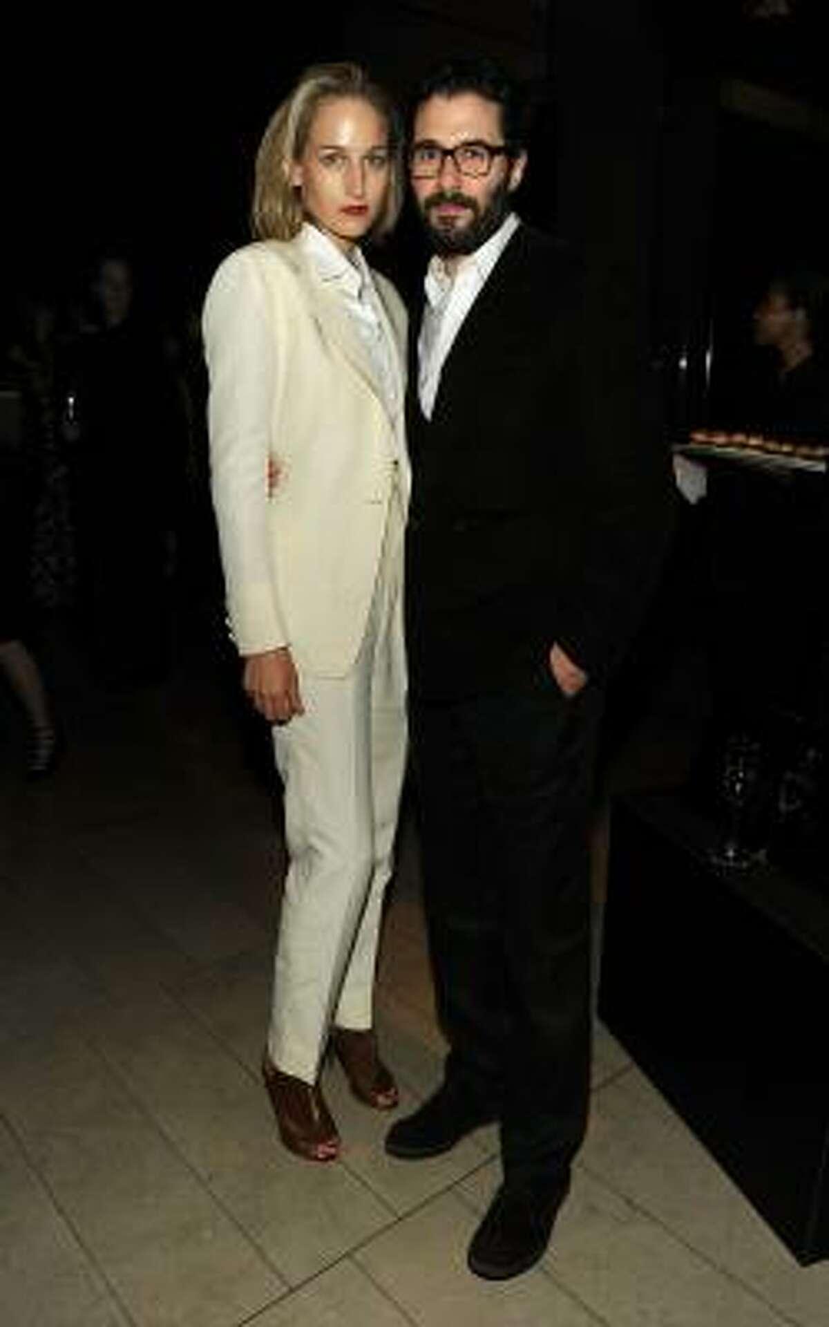 Leelee Sobieski and designer Adam Kimmel.
