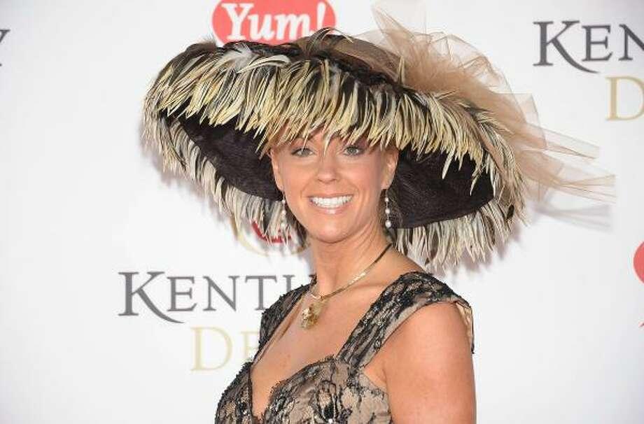 Irene  If Hurricane (Kate) Irene (Gosselin) strikes, perhaps it will blow away that hat. Photo: Michael Loccisano, Getty