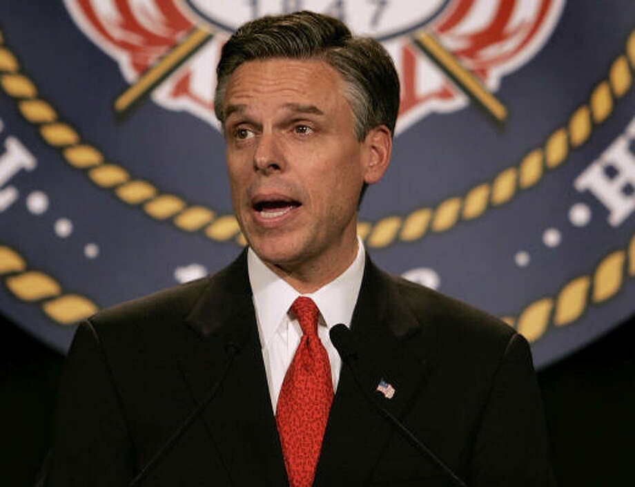 Utah Gov. Jon Huntsman, another possible president, also has Mormon roots though he has told reporters that he is not overtly religious. Photo: DOUGLAS C. PIZAC, Associated Press