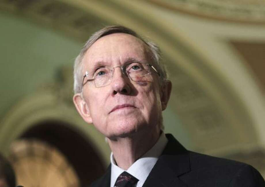 Senate Majority Leader Harry Reid of Nevada keeps a copy of the Book of Mormon in his office and is an active member of the LDS church, though some fellow Mormons disagree with his Democratic politics. Photo: J. Scott Applewhite, Associated Press