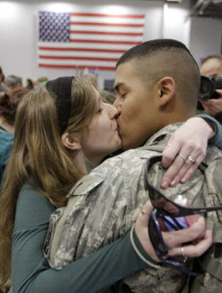 Who: National Guard Spec. Hector Alevedo of San Diego and his wife, Marlena.