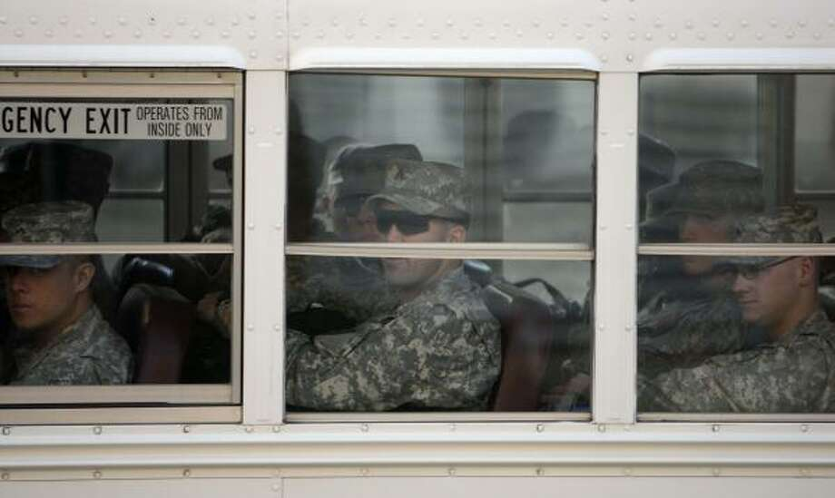 Who: Army Sgt. Cole Weih. Where:  Fort Hood. When: Jan. 22, 2008. Where from:  Iraq. Photo: Rick Bowmer, AP