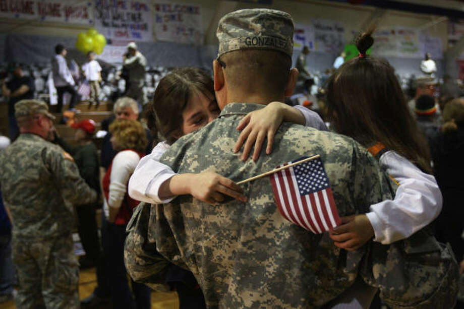 Who: soldiers in Fort Carson, Colo. When: Jan. 28, 2012. Photo: John Moore, Getty Images