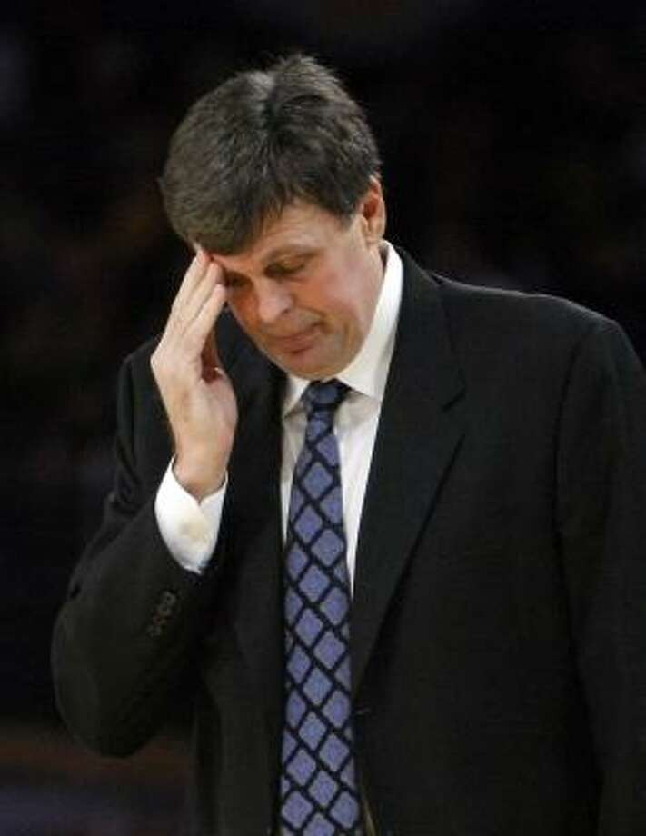 In 2007, McHale was fired from his front office position following three losing seasons for the Timberwolves and the trade of Kevin Garnett to the Boston Celtics. Photo: Mark J. Terrill, AP