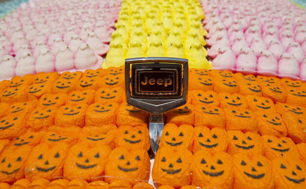 The front end of the Peep Jeep art car Photo: Nick De La Torre, Chronicle / HC