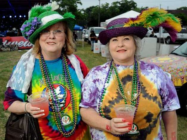 Tamie McWilliams and Shelley McWilliams at the Art Car Ball. Photo: Dave Rossman, For The Chronicle / HC