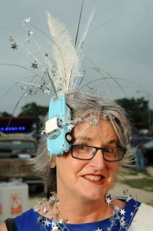 Cynthia Card gets into the spirit for the Art Car Ball. Photo: Dave Rossman, For The Chronicle / HC