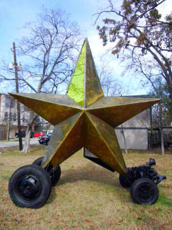 A model of Mark Bradford's Star Car looks a lot like the chron.com logo. / HC