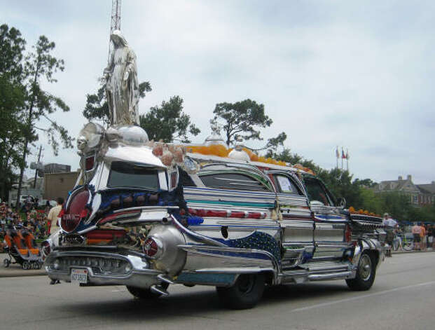This art car has a religious theme. Photo: Photo By Roberta MacInnis / HC