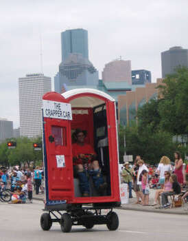 The Crapper Car by Richard E. Simcik is perfect for those on the go who have to go. Photo: Roberta Macinnis, Houston Chronicle