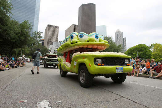 """Oojah'' is an art car that looks back when you look at it. Photo: Nick De La Torre, Houston Chronicle"