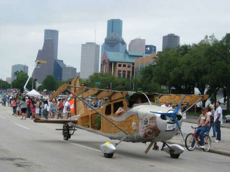 This Art Car Plane is great for those wishing they could fly over traffic. Photo: Roberta Macinnis, Houston Chronicle
