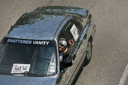 This mirrored car is perfect for even the most vain. Photo: Michael Paulsen, Houston Chronicle