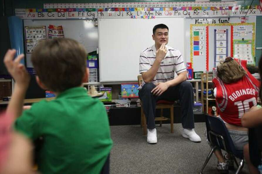 Yao told the Chronicle on Thursday that he would like to remain in Houston.