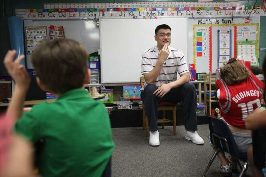 Yao told the Chronicle on Thursday that he would like to remain in Houston. Photo: Mayra Beltran, Chronicle