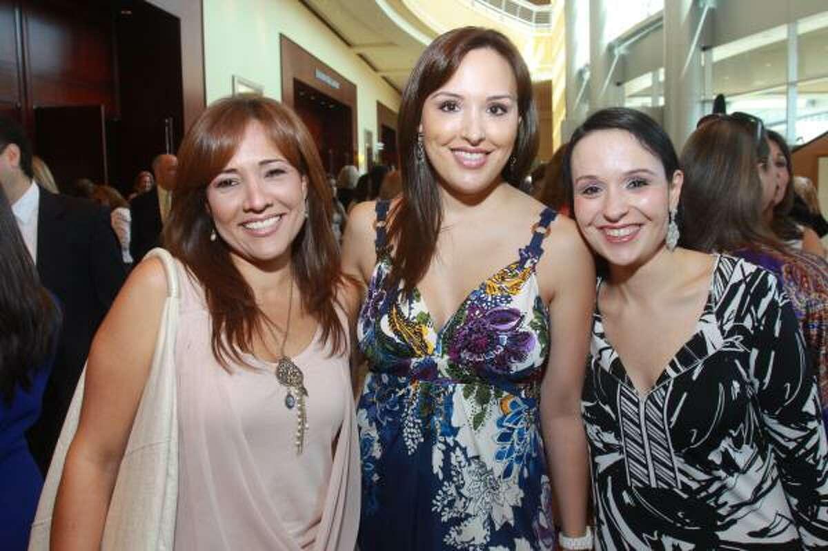 Claudia Tamez, Macrina Trevino and Daniela Davila