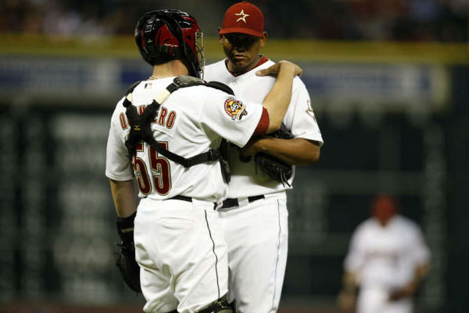 Wilton Lopez:0-1, 5.14 ERA, 7.0 IP, 8 H, 4 ER, 3 BB, 5 SO   Awful Astros team stat: Batting average against: .288, highest in MLB Photo: Johnny Hanson, Chronicle