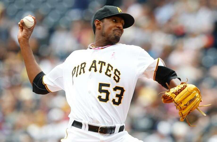 Pirates starter James McDonald left after six innings and 96 pitches. Photo: Jared Wickerham, Getty