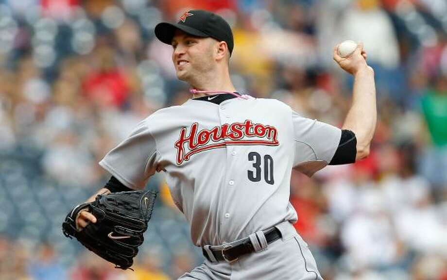 J.A. Happ struck out three but walked four and surrendered six hits. Photo: Jared Wickerham, Getty