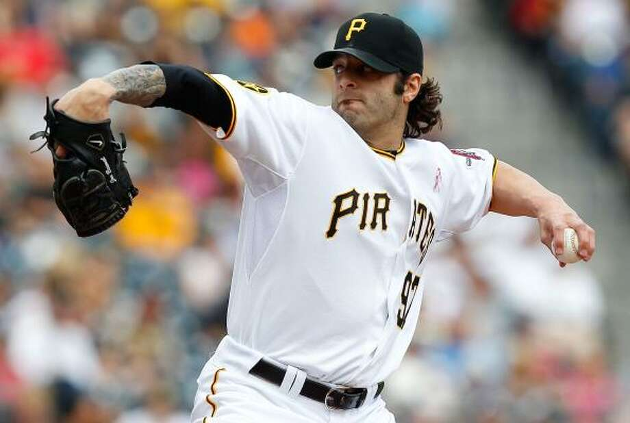 Pirates pitcher Joe Beimel pitched the seventh after Chris Resop blew the save. Photo: Jared Wickerham, Getty