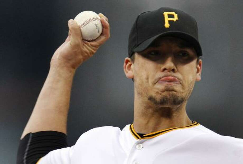 Pirates starter Charlie Morton held the Astros to one run over 7 2/3 innings. Photo: Gene J. Puskar, Associated Press