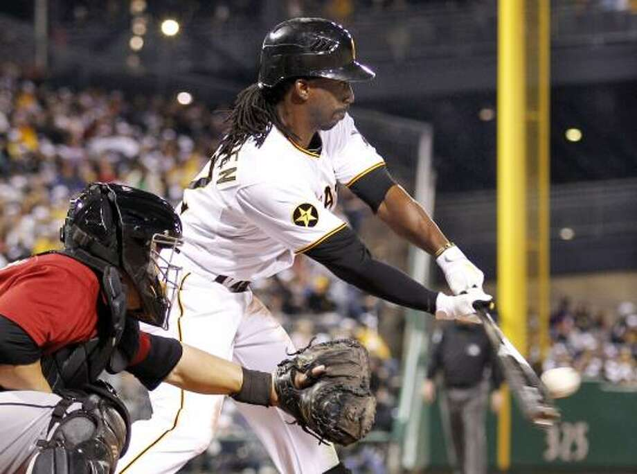 Pittsburgh's Andrew McCutchen grounds out to Astros pitcher Bud Norris in the seventh inning. Photo: Gene J. Puskar, Associated Press