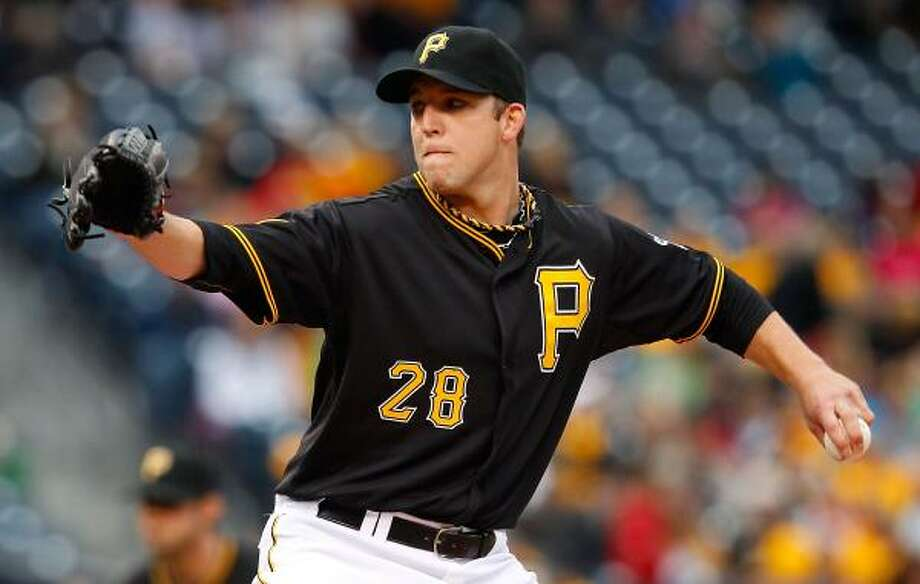 Pirates starter Paul Maholm allowed only five hits over seven innings. Photo: Jared Wickerham, Getty