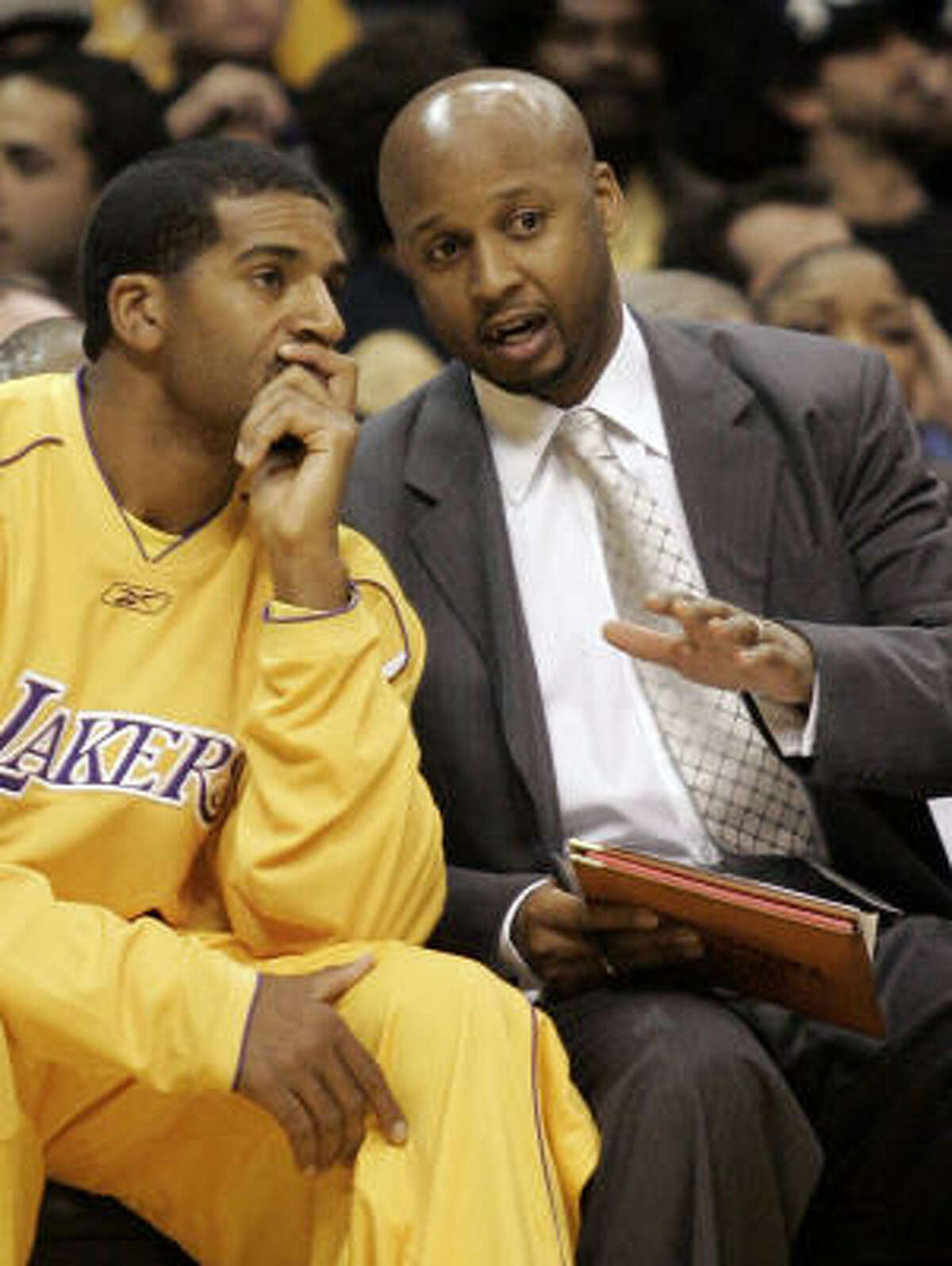 Has been an assistant coach with the Los Angeles Lakers since 2004-05 season. He was a journeyman pro, but won three NBA titles with the Lakers.
