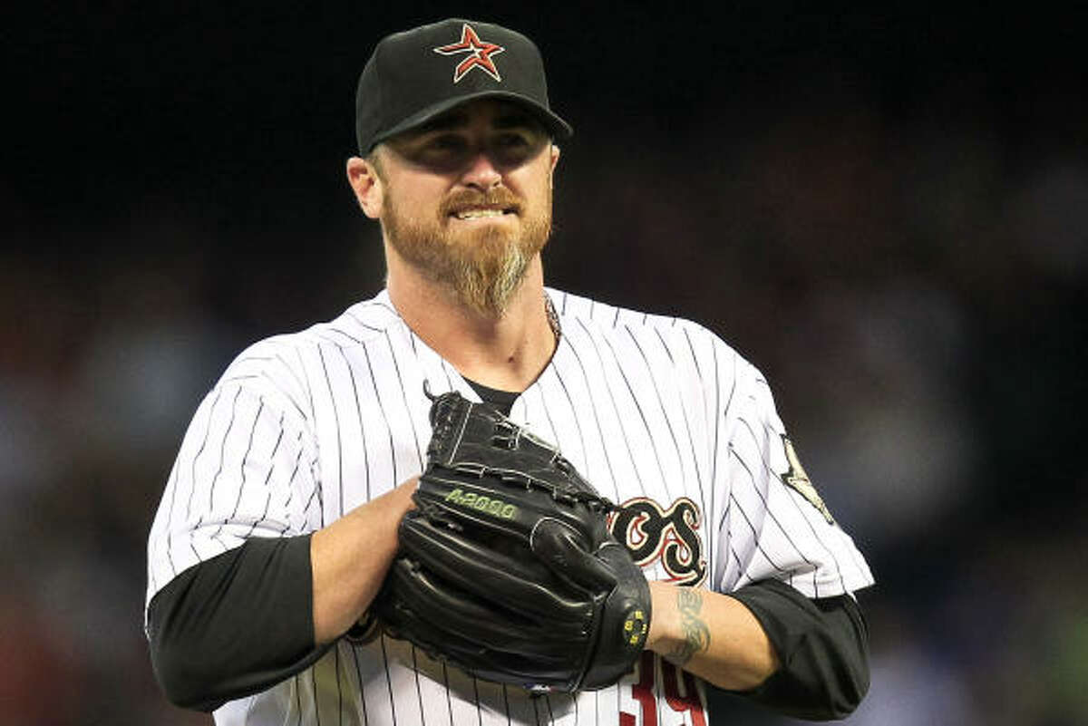 April 29: Brewers 5, Astros 0 Astros starter Brett Myers labored through six innings, giving up four runs on five hits and three walks. He also had eight strikeouts.